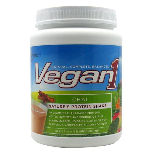 Nutrition53 Vegan1 Shake, Chai, 1.5 Pound