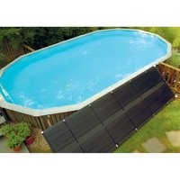 SunHeater Universal (2) 2' x 20' Solar Heating Panel for In Ground or Above Ground Pool 80 Sq Ft