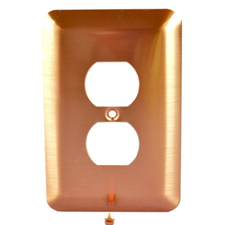 Receptacle Cover Plates - Leviton Copper Duplex Outlet Receptacle Wall Plate Cover 89303-COP