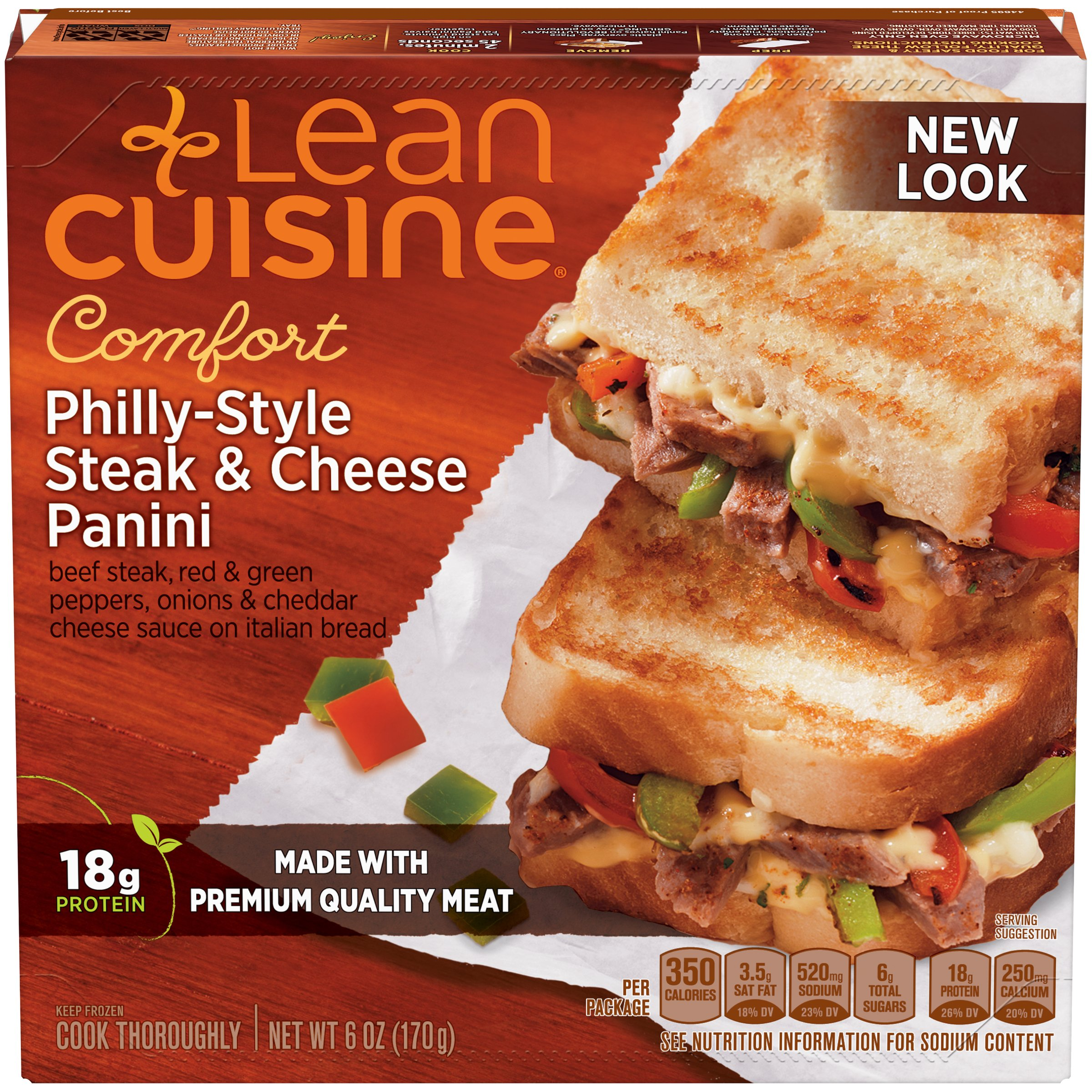 LEAN CUISINE CRAVEABLES Philly-Style Steak & Cheese Panini 6 oz. Box