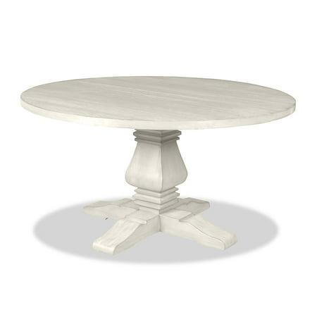 South Cone Home Toscana Reclaimed Wood Round Dining Table White