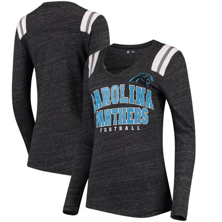 Carolina Panthers 5th   Ocean by New Era Women s Tri-Blend Long Sleeve  V-Neck T-Shirt - Black - S - Walmart.com 1d7aaaf6d