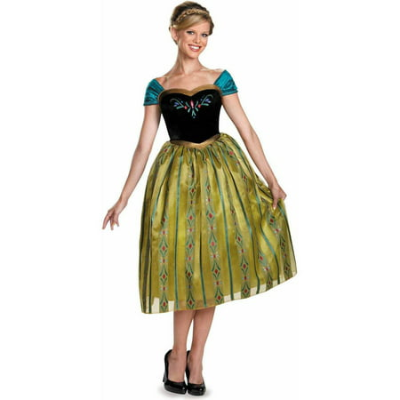 Frozen Anna Coronation Deluxe Women's Adult Halloween Costume - Frozen Merchandise For Adults