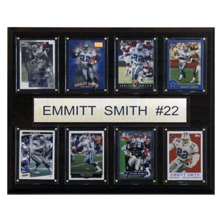 C&I Collectables NFL 12x15 Emmitt Smith Dallas Cowboys 8-Card Plaque - Dallas Cowboys Office Supplies