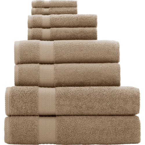 Generic Mainstays Quick Drying 8 - Piece Bath Towel Set
