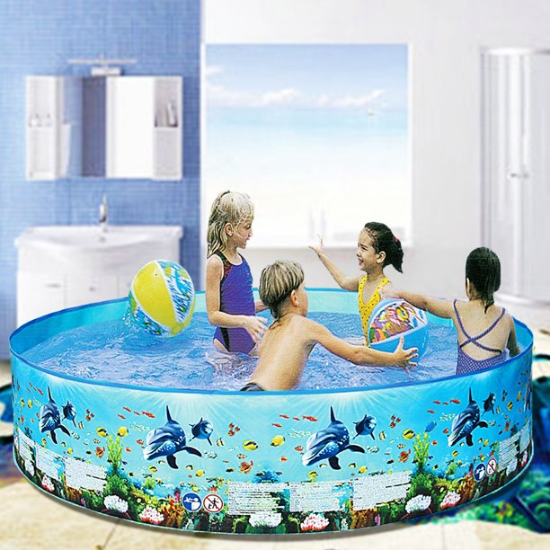 S-morebuy 5' - 8' Garden Round Inflatable Baby Swimming ...