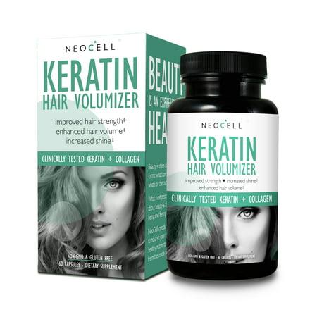 Neocell - Keratin Hair Volumizer - 60 Capsules (Best Hair Volumizer For Thin Hair)
