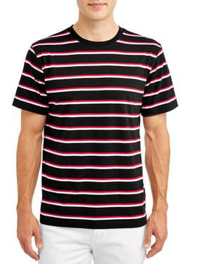 No Boundaries Men's Short Sleeve Stripe Tee, up to size 3xl