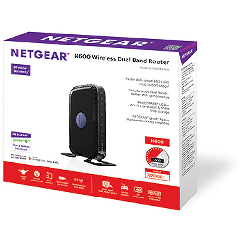 NETGEAR N600 Dual Band WiFi Router (WNDR3400) by NETGEAR