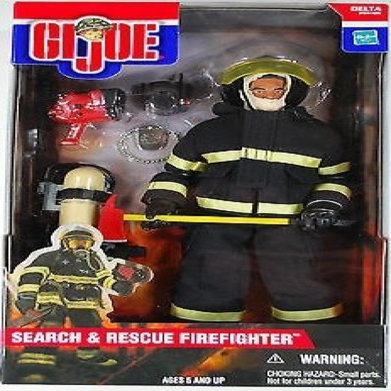 "GI Joe Search and Rescue Firefighter 12"" 1 6th Scale Action Figure (Hispanic Variant) by"