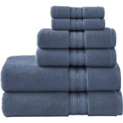 Better Homes and Gardens Thick and Plush 6 Piece Bath Towel Set, Insignia Blue