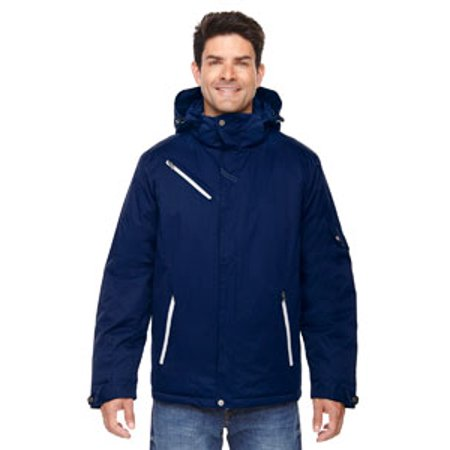 North End Men's Adjustable Hooded Jacket, Night 846, Small