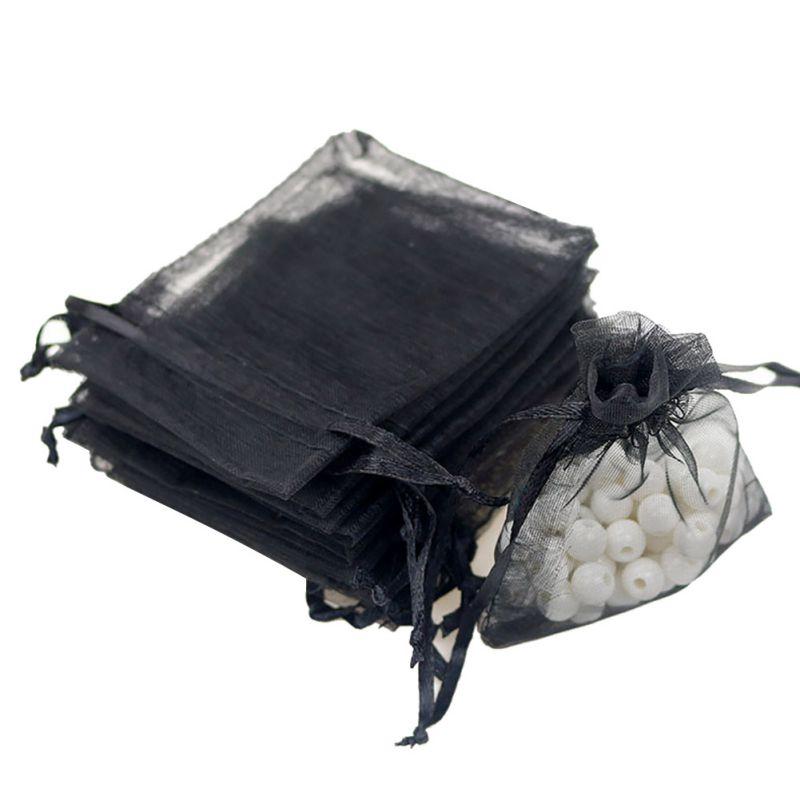 100PCS Organza Drawstring Gift Bags for Wedding Christmas Gift Jewelry(7x9cm)