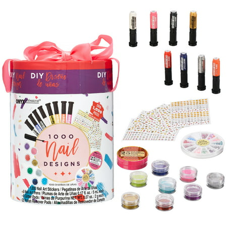 Onyx Professional DIY 1000 Nail Designs Nail Art Gift Set ($17 Value) for $<!---->