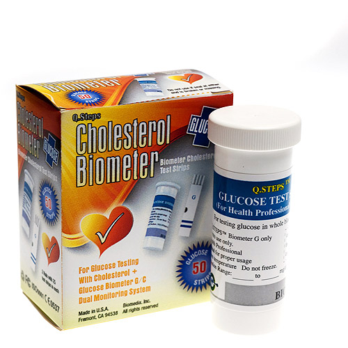 Cholesterol Biometer Glucose Tests Strips, 50 Count