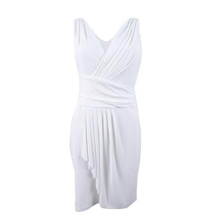 American Living Women's Draped Jersey Dress (12, Cream)