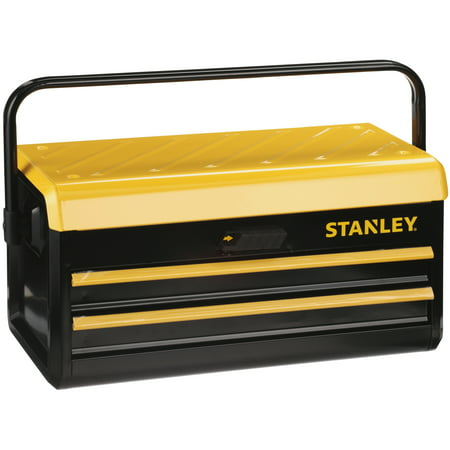 Drawer Rolling Tool - STANLEY STST19502 - 19-Inch Metal Toolbox with 2 Drawers