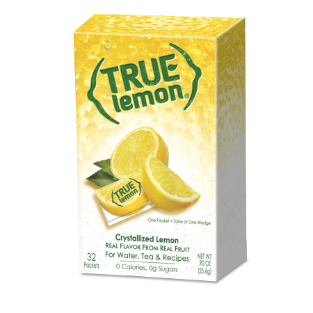 (12 Pack) True Lemon Drink Mix, Lemonade, 32 Packets, 1 Box