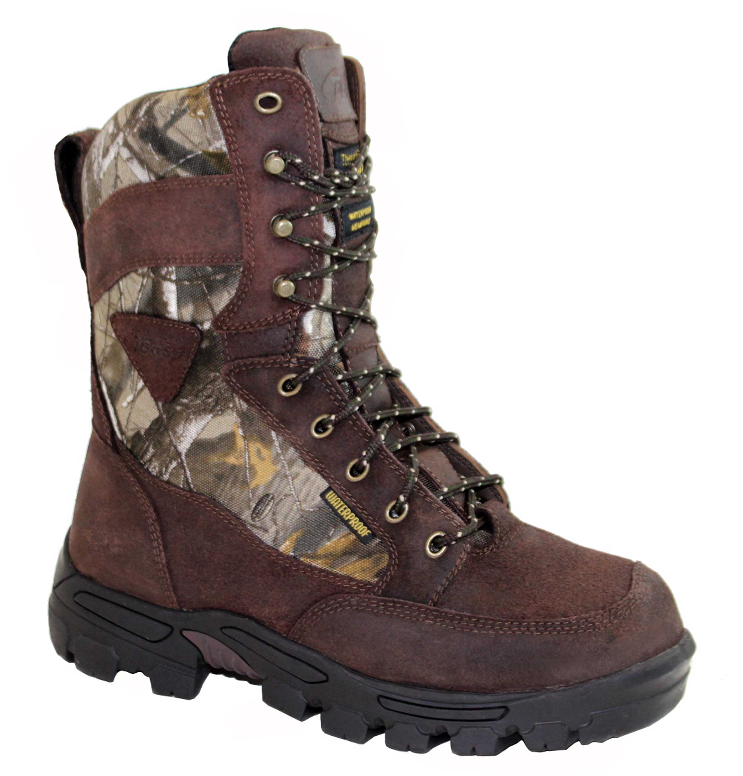 "Adtec Men's 11"" Oiled Leather Camo Hunting Boot, Camo - 7.5 M"