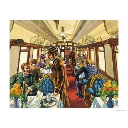 Aluminum Passenger Coach - The Comfort of the Pullman Coach of a Late-Victorian Passenger Train Print Wall Art By Harry Green
