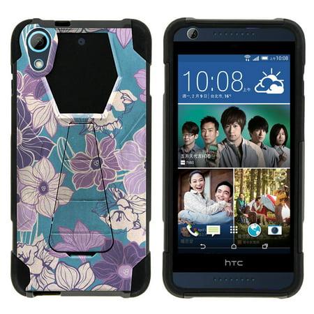 HTC Desire 626 Shock Fusion Heavy Duty Dual Layer Kickstand Case -  5 Shades of Purple