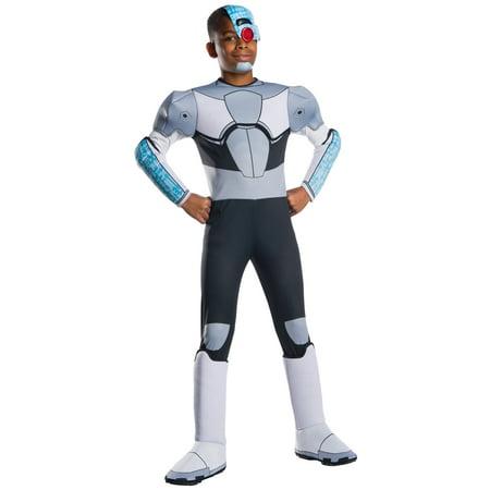 Teen Titans Deluxe Cyborg Child Costume (Cyborg Costume Kids)