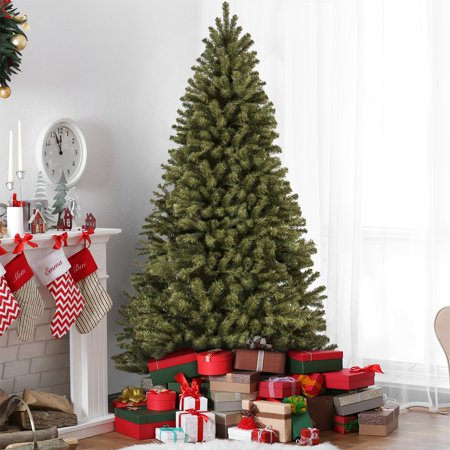 Best Choice Products 7.5-Foot Spruce Hinged Artificial Christmas Tree with Easy Assembly, Foldable Stand,