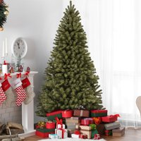 Best Choice Products 7.5-foot Premium Spruce Hinged Artificial Christmas Tree w/ Easy Assembly, Foldable Stand, Green