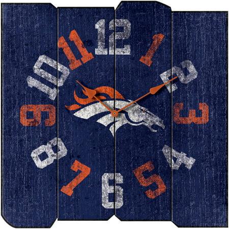 Broncos Vintage Square Clock