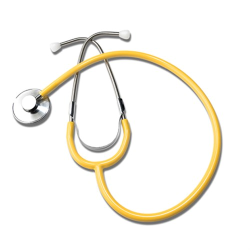 Labtron Single Head Stethoscope - Yellow Stethoscope
