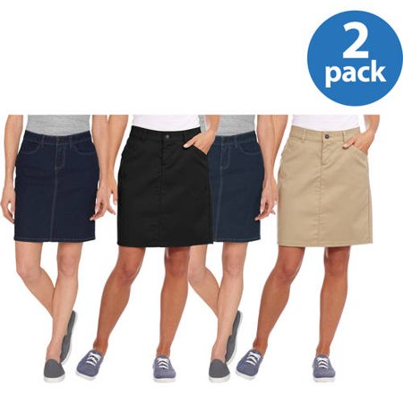 Genuine Dickies Womens Twill Skirt 2pk