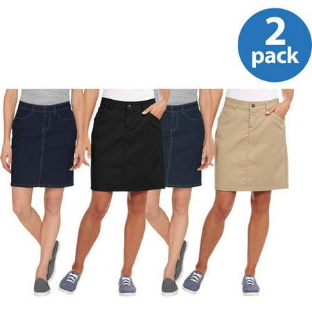 Genuine Dickies Womens Twill Skirt 2pk -