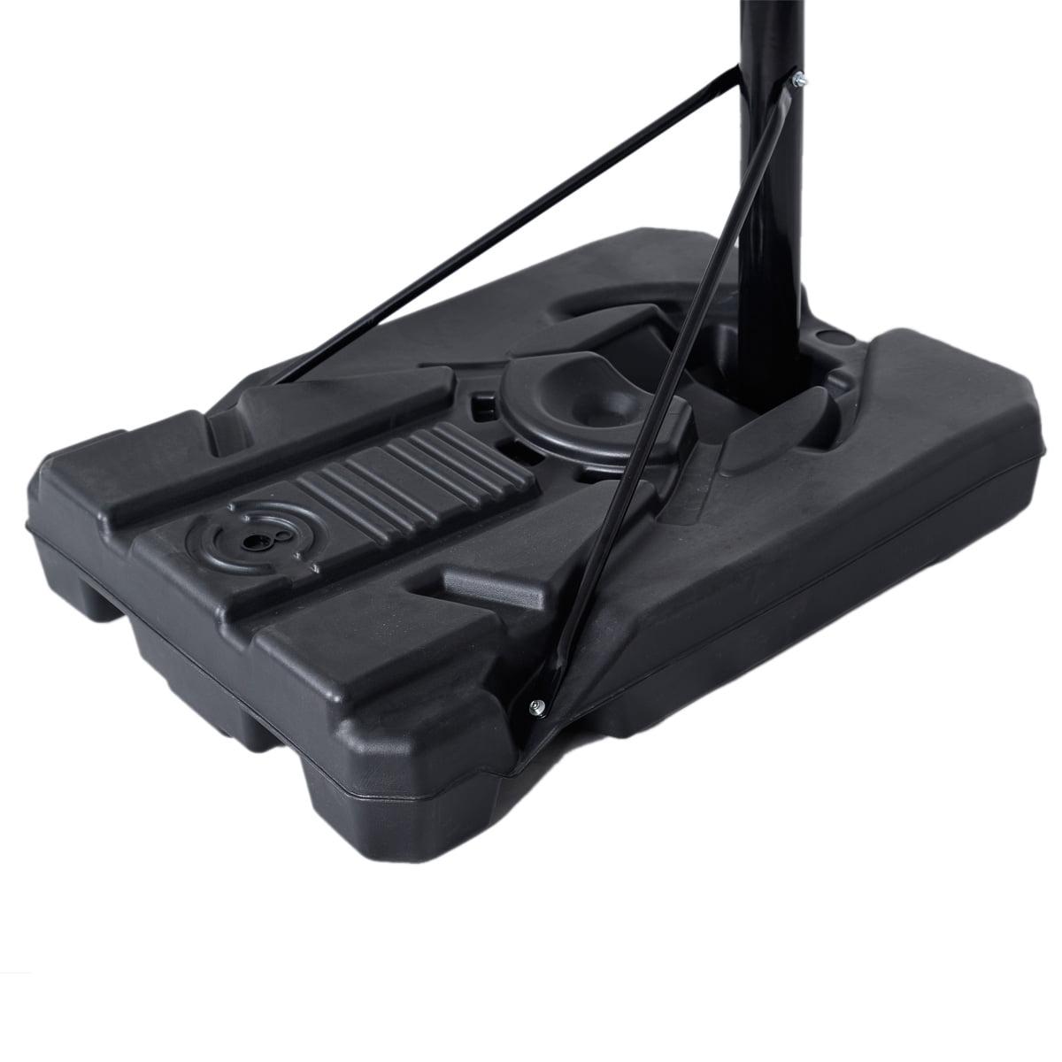 Goplus Indoor Outdoor 10' Adjustable Height Portable Basketball Hoop System  Backboard
