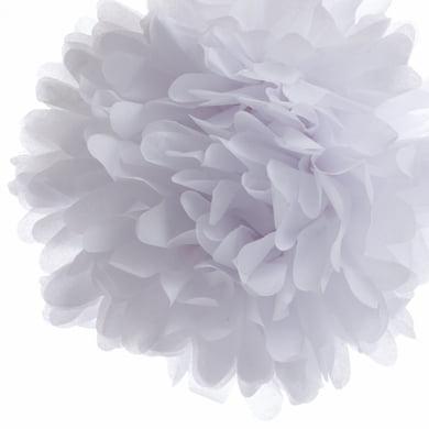 Quasimoon EZ-FLUFF 12'' White Tissue Paper Pom Poms Flowers Balls, Decorations (4 Pack) by PaperLanternStore - Tissue Balls