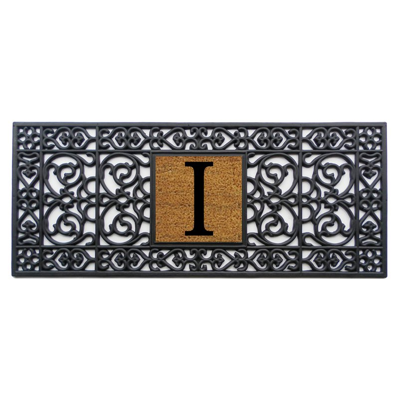 Home and More 17 x 41 Monogrammed Doormat