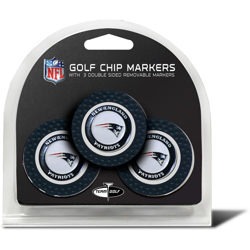 Team Golf NFL New England Patriots 3 Pack Golf Chip Ball Markers