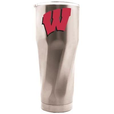 All Star Sports Wisconsin Badgers 28oz Stainless Steel Travel Tumbler