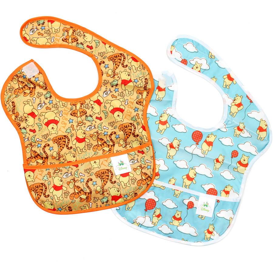 Winnie the Pooh Newborn Baby Boy Superbib 2 pack