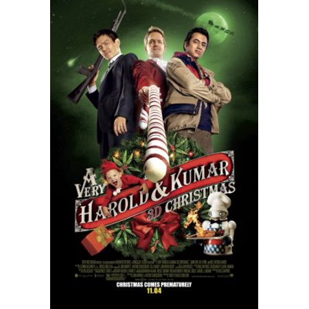 A Very Harold And Kumar 3D Christmas Movie 11inx17in Mini Poster