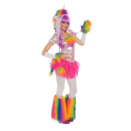 Halloween Rainbow Unicorn Adult Costume