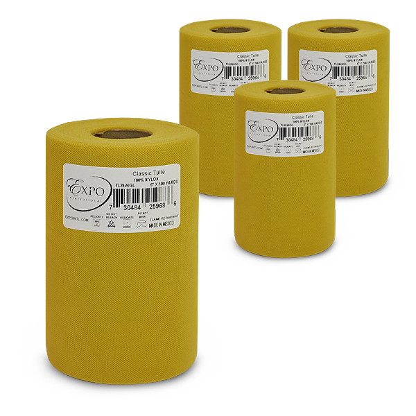 "Expo Int'l Pack of 4 Classic 6"" Tulle Spool of 100 Yards"