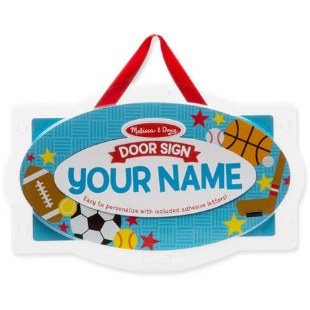 Melissa & Doug Wooden Door Plaque: Sports - Personalized Name - Doug Stop Sign