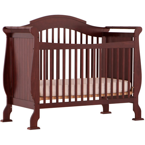 Storkcraft - Valentia Fixed Side 4-in-1  Convertible Crib, Cherry