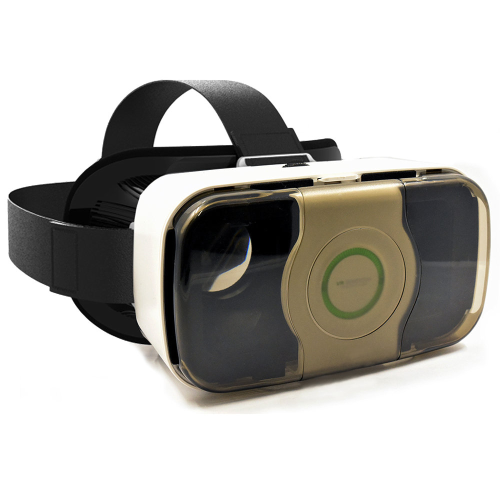 Arc® 3D VR Box Headset Kit Virtual Reality Glasses Movies & Games Gold
