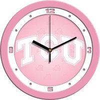 Suntime ST-CO3-TCU-BWCLOCK Texas Christian Horned Frogs-Baby Blue Wall Clock
