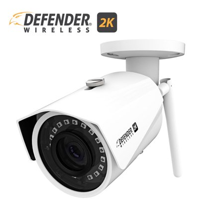 Defender 2K (4MP) Wireless Wide Angle, Night Vision IP Camera with Remote Mobile Viewing and No Monthly Fees ()