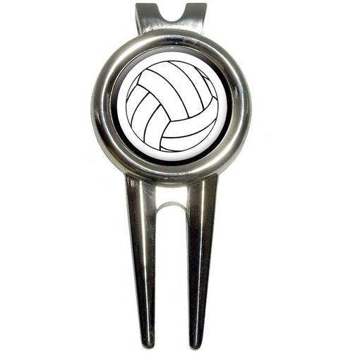 Volleyball Golf Divot Repair Tool and Ball Marker
