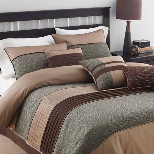 Lexington 7-Piece Bedding Comforter Set, Brown
