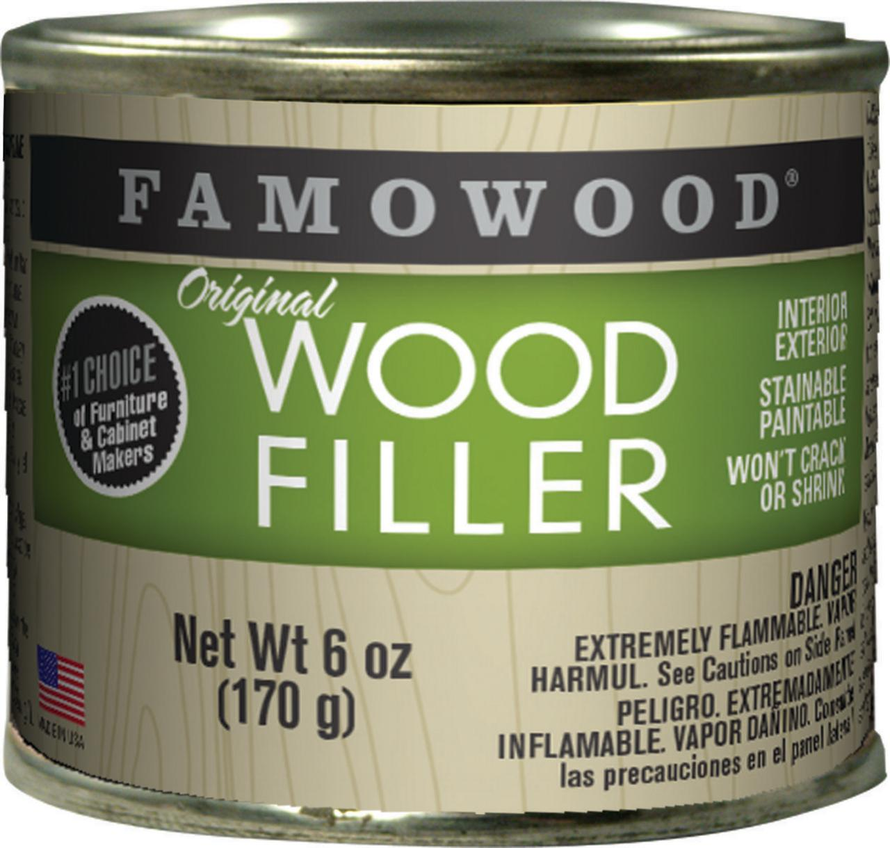 Eclectic Famowood Original Solvent Based Wood Filler, 6 oz Can, Mahogany, 15 min