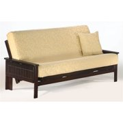 Solid Wood Futon Frame with Tray Arms (Standard Twin)
